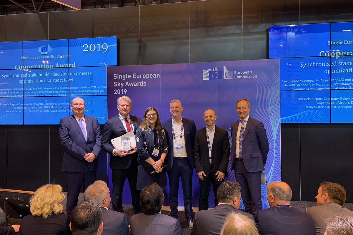 Brussels Airport rewarded as leader of the European 'Airport Operations Plan' project at the World ATM Congress in Madrid